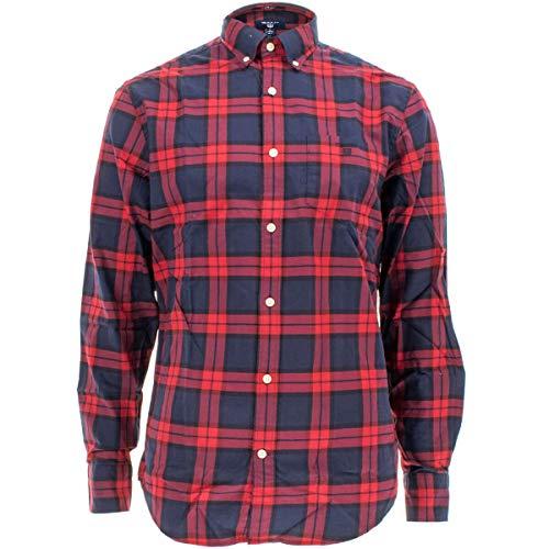 Regular Tartan Vino Wine Gant fit Camisa Chaqueta Winter Hombres de O0wqCY5w