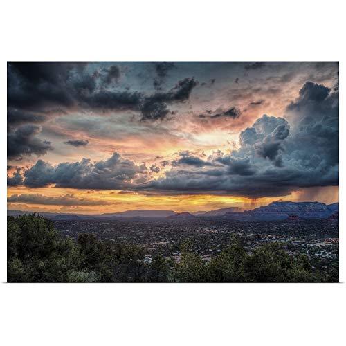 (GREATBIGCANVAS Poster Print Entitled Sunset with Clouds Over Sedona, Arizona by Scott Stulberg 18