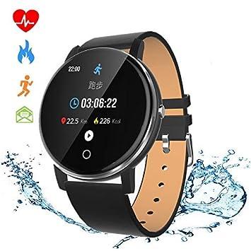 SmartWatch,Reloj Inteligente con Impermeable 68, Pulsera Actividad Inteligente con Monitor Rítmo Cardíaco Calorías, para Android y iOS Teléfono móvil ...