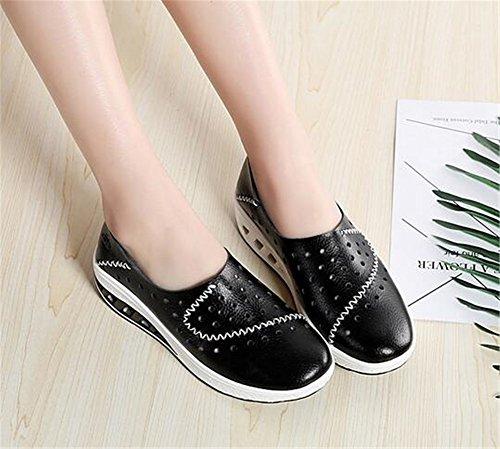 Zapatillas Señora Fitness Zapatos Cuero de de Zapatillas de de Mocasines Fitness de de de Gran Mujer Tamaño Verano Do 8TPnzxqTwr