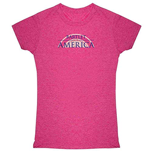 (Pop Threads Jed Bartlet for America Presidential Campaign Heather Fuchsia XL Womens Tee Shirt)