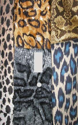 (Patchwork Safari Animal Skin Print Switchplate - Switch Plate Cover)