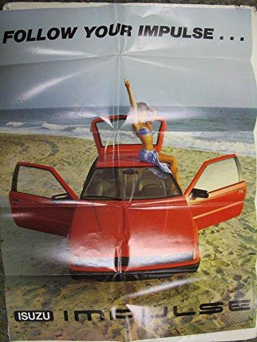 1982 Isuzu Impulse Factory Showroom Poster Penthouse Pet Corinne Alphen from Isuzu