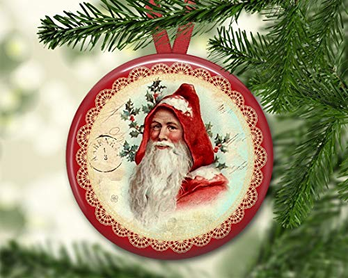 Santa Christmas Tree Ornaments Santa Claus Decorations Victorian Christmas Decorations for The Kitchen Kitchen Decor Ceramic Ornament Porcelain Ornament