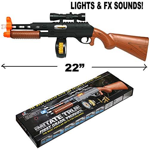 Tommy Gun Halloween Prop (Unbranded Plastic 20 Inch Gangster Gun Toy Machine Gun 18183)