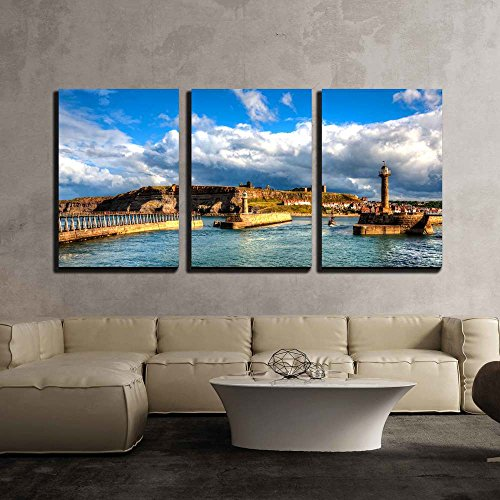 Whitby North Yorkshire Great Britain x3 Panels