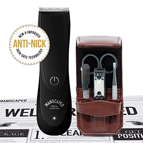 Manscaped Men's Bathroom Toiletry Grooming Tools, Includes High Performance Electric Manscaping Trimmer and Stainless steel 5 piece Nail Kit, plus Free Disposable Shaving Mats from Manscaped