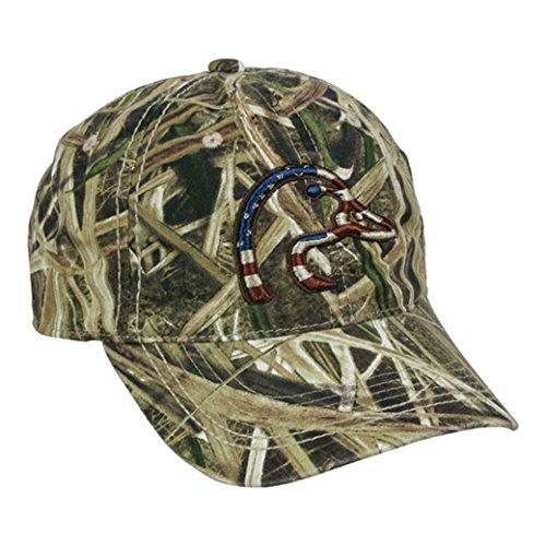 Mossy Oak Shadow Grass Hat - Ducks Unlimited Mossy Oak Shadow Grass Blades Patriotic American Flag Hat