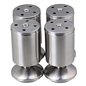 bqlzr stainless steel kitchen adjustable feet round 2 diameter 4 height furniture leg pack of. Black Bedroom Furniture Sets. Home Design Ideas