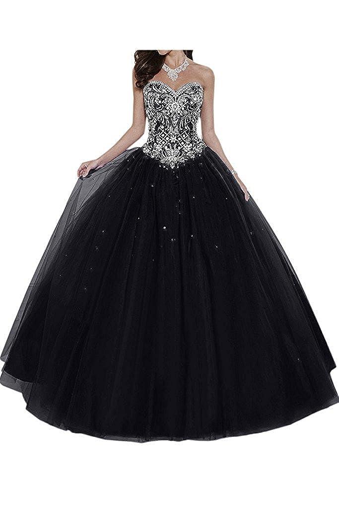 Dresses Onlie Damen Hochzeitskleider Lange Quinceanera Kleider Prinzessin Perlstickerei Abendkleider Ballkleider