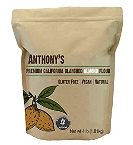 Almond Flour Blanched, Anthony's 4lb Bag, Batch Tested Gluten-Free