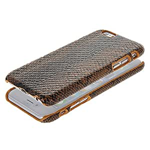 ONEWIND Brown Python Skin Pattern Case Hard Protecting Cover for Apple iPhone 6 (4.7 Inch)