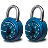 Master Lock 1530T Combination Padlock, Bright Metallic, Each Pack Contains 2 Locks, Colors May Vary, Pack of 16