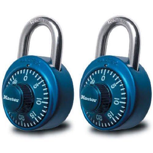 Master Lock 1530T Combination Padlock, Bright Metallic, 2-Pack(colors may vary) [並行輸入品] B01MXWV4TD