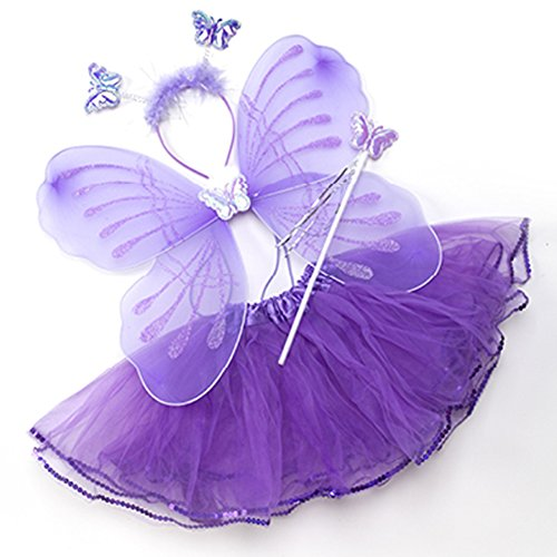 Summer Fairy Lace Wings - Tutu And Wings (12M to 5years, Purple - Fairy)