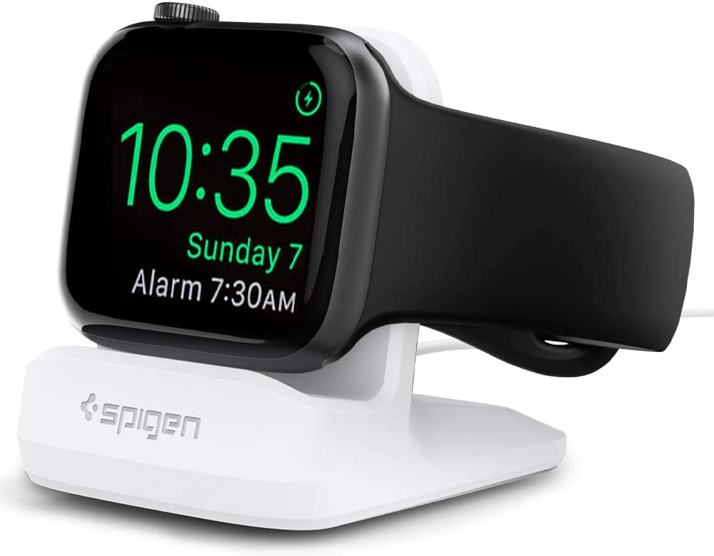 Spigen S350 Designed for Apple Watch Stand for 44mm/40mm Series 6/SE/5/4 and 42mm/38mm Series 3/2/1 - White