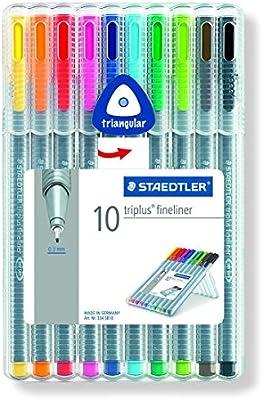 Staedtler St 334 SB10 Triplus Assort Pen (Pack de 10): Amazon.es: Industria, empresas y ciencia