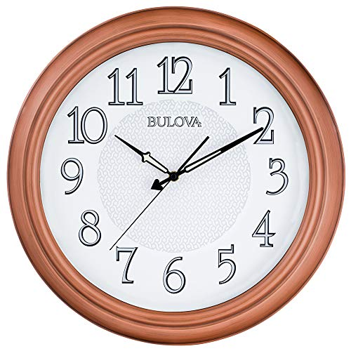 Bulova Providence Indoor/Outdoor Wall Clock, Copper -  C4866