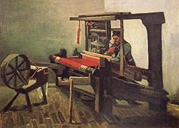 Weaver Facing Left with Spinning Wheel,Vincent Van Gogh,61x85cm: Amazon.es: Hogar