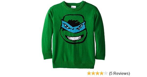 Teenage Mutant Ninja Turtles Boys TMNT Leonardo Intarsia Sweater