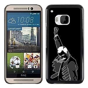 TopCaseStore / la caja del caucho duro de la cubierta de protección de la piel - Hell Yeah Mercury - HTC One M9