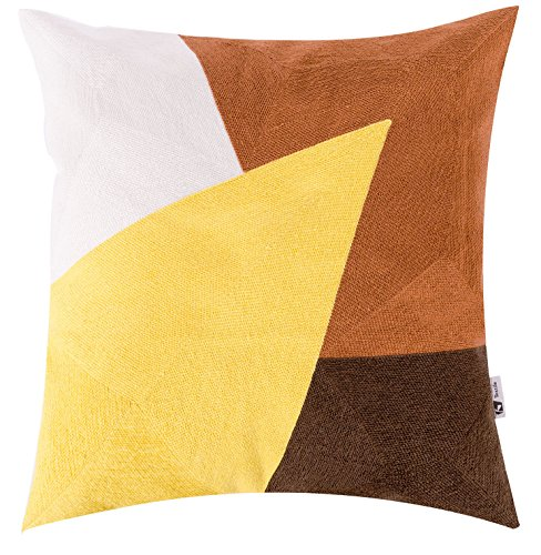 Kevin Textile Embroidery Cushion Geometry product image