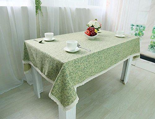 MeMoreCool Fresh Green Color Leaf Pattern Rectangular Table