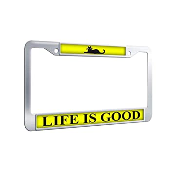 Amazoncom Life Is Good License Plate Framelife Is Good License