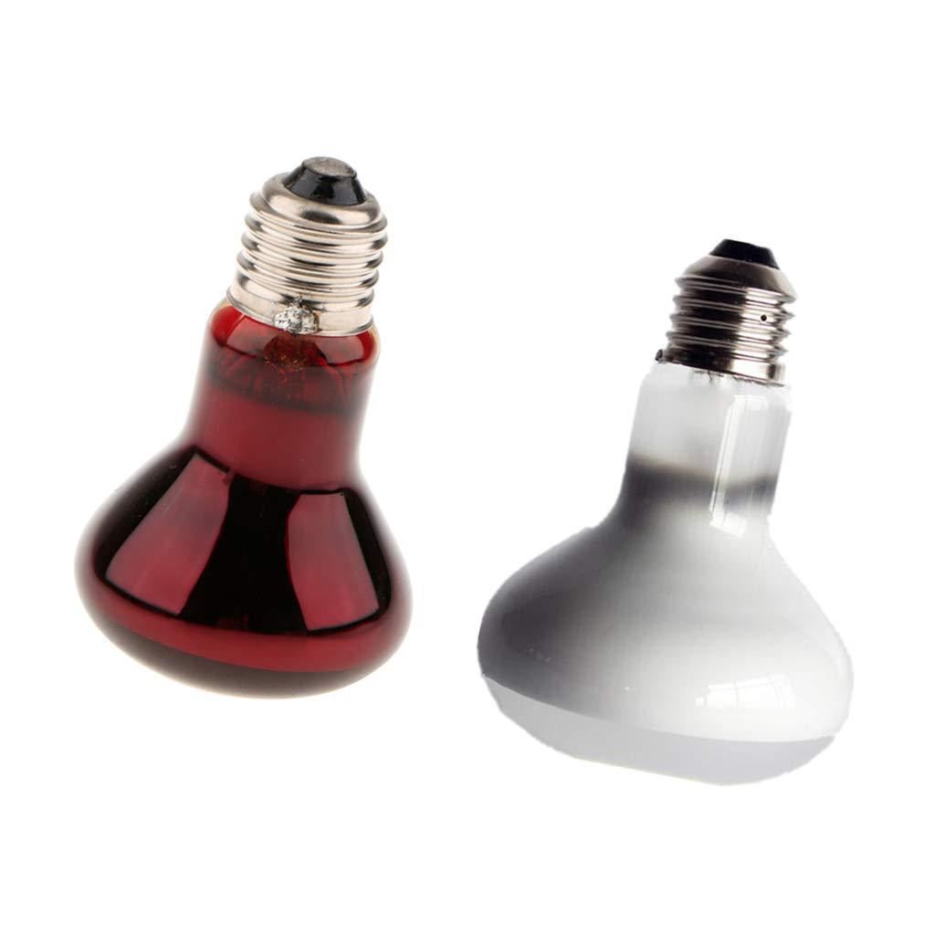 B Blesiya 2pcs 50/100W Lampe de Reptile Chauffage Infrarouge Lampe Lumière en Céramique, Lampe Reptile Animaux Chauffage/Serpent Tortue/Chat/Chien