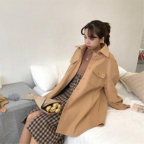 mujer Manga para Camel Abrigo clothing Larga COCO Parka qR1RA
