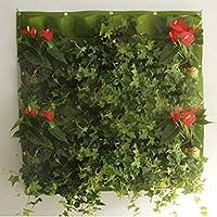 Panel de bolsas para jardín vertical, montaje en pared, de fieltro ...