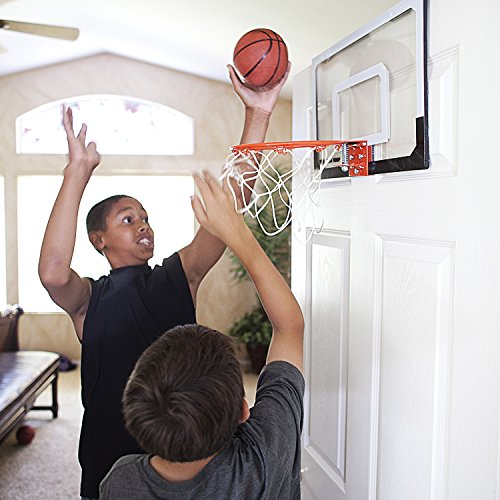 "SKLZ Pro Mini Basketball Hoop W/ Ball. 18""x12"" Shatter Resistant Backboard."