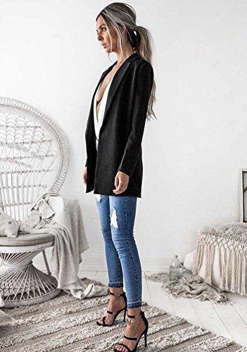 coupe Veste Long NiSeng Blazer Matelass Slim Femme t4Oq4azUw6