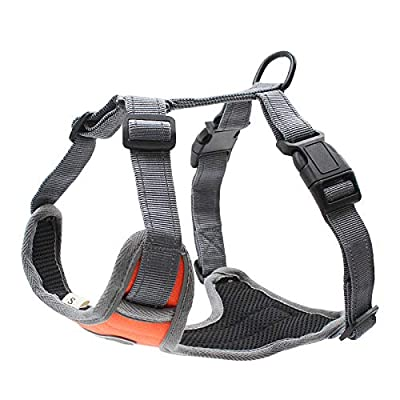 Z ZHIZU Dog Harness No Pull Dog Harness Adjustable Outdoor Dog Vest Soft Dog Harness Front for Dogs Easy Control for Small Medium Large Dogs