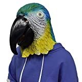 YESEA Parrot Mask Latex Bird Head Full Face Disguise Halloween Costume Cosplay for Adult