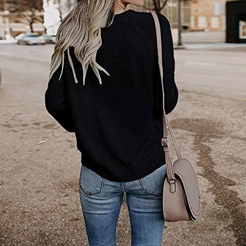 Sweat Femme Solide Pullover Jumper Noir Pull Love Casual Taille Grande Femmes Tricots Tops Manches Lache Trydoit Capuche Longues wxCf1q47