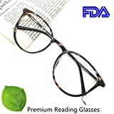 Kyпить Reading Glasses 2.00 Women Light Weight Round Eyeglasses Frames Tortoise Comfortable на Amazon.com