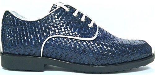 AerogreeN ISEO (white/silver, black/gold, tan/white) (Navy-blue, 6.5 (M) US) by Aerogreen