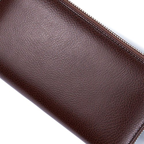 Bag Leather Arichtop Organizer Business Zipper Wallets Coffee Long Capacity Coin Purse Wallet Male Holder Men Card High wgBgnqpH8