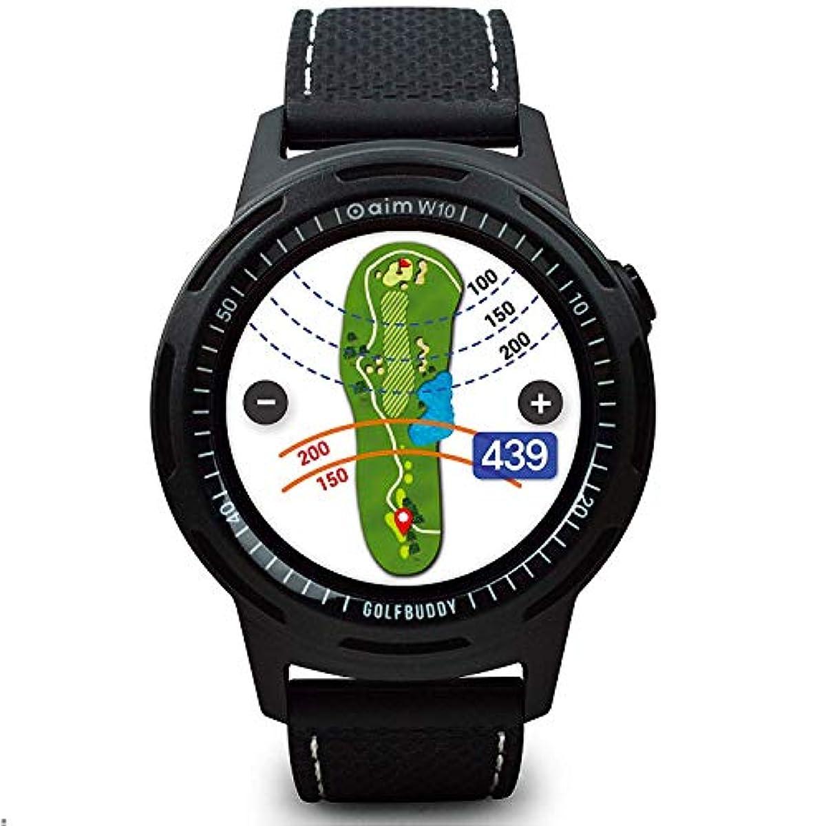 [해외] 【GOLFBUDDY】골프 바디 올 컬러 화면 GPS시계형 골프 거리 측정기 AIM W10 전세계4만 골프장 데이터 일생 무료 업데이트 건단 조작 【AMAZON.CO.JP한정】