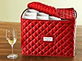 CoverMates – Stemware Storage 15L x 12W x 12H – Diamond Collection – 2 YR Warranty – Year Around Protection - Red