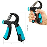 Yingte Hand Grip Strengthener,22-88Lbs Adjustable Dial,Blue