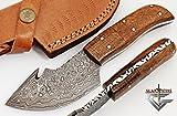 Cheap Handmade Damascus Steel Hunting Knife – Small Skinning Knife GladiatorsGuild 64