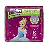 Pull-Ups Night-Time Potty Training Pants for Girls, 2T-3T (18-34 lb.), 50 Ct Pack of 2 (Packaging May Vary)