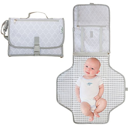 Baby Portable Changing Pad with Pockets | Travel Mat Station Diaper Bag for Infants, Babies | Stroller Strap, Carry Handle | Holds Diapers & Wipes by Comfy Cubs