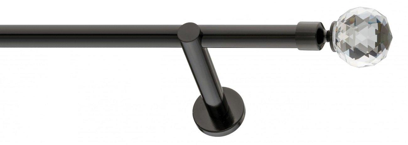 M/étal Tringle /à rideau en m/étal Noir 19 mm 120 cm 1x120cm Boule