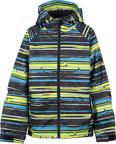 686 Defender Snowboard Jacket Kid's Sz M Stripe Bluebird (686 Boys Snowboard Jacket)