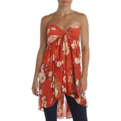 Free People Baby Doll (Free People Womens Mirage Baby Doll High-Low Tank Top Red M)