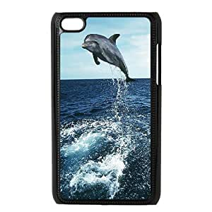 {Dolphin Series} Ipod Touch 4 Cases Dolphin, Hipster Design Case Pharrel - Black