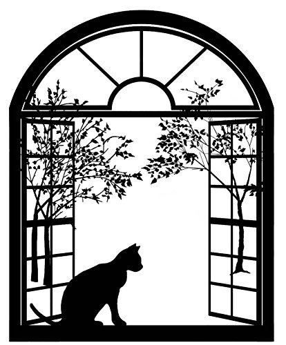 Cat Arched Window 4